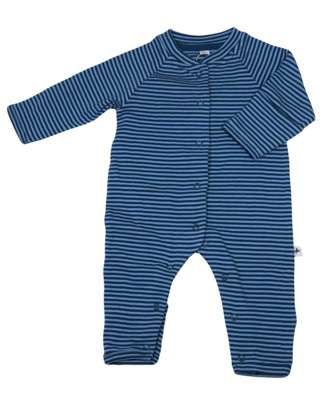 Leela Cotton Baby Ringel Schlafanzug Atlantic