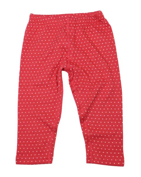 Leela Cotton Wendeleggings Pünktchen rot-weiss