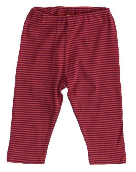 Leela Cotton Baby Ringel Leggings, fuchsia/orange geringelt