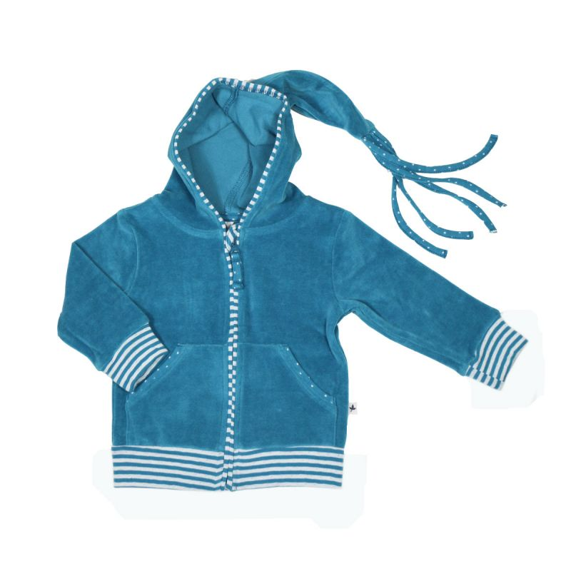 Leela Cotton Baby Nicky-Kapuzenjacke