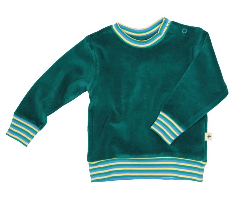 Leela Cotton Nicky-Sweatshirt Scandinavia smaragdgruen