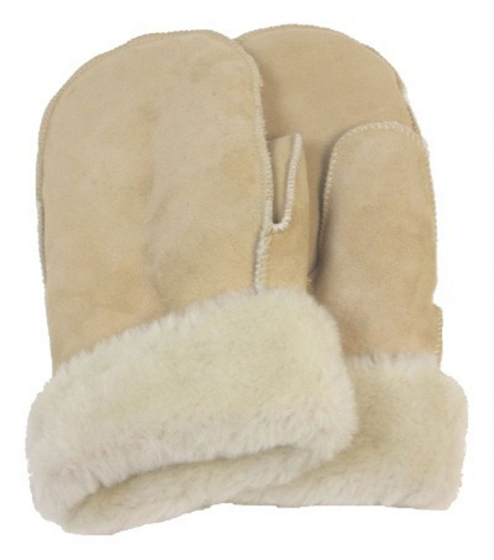 Fausthandschuh-Merinofell, Farbe beige