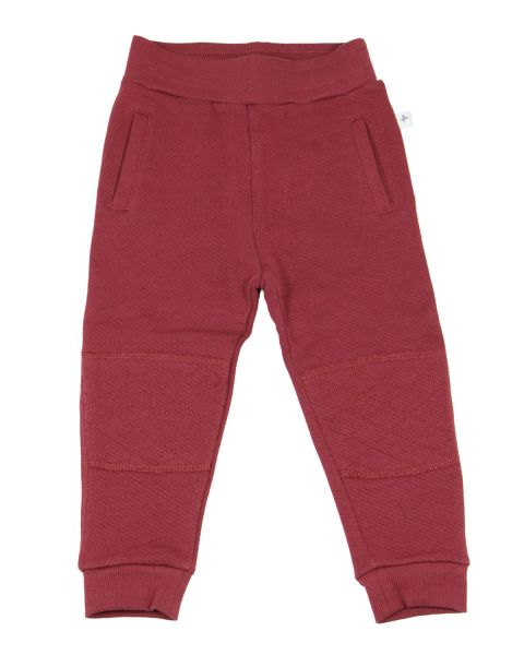 Leela Cotton Kinder Fleece Hose Bio Baumwolle, ziegelrot