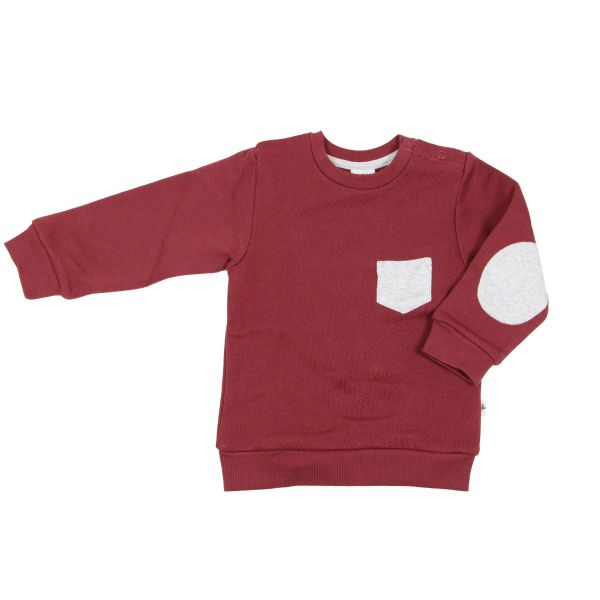 Leela Cotton Kinder Fleece Sweatshirt Bio Baumwolle, ziegelrot