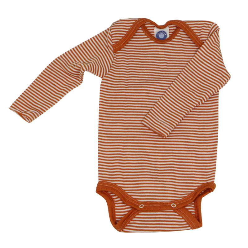 Cosilana Baby-Body Langarm aus Wolle/Seide